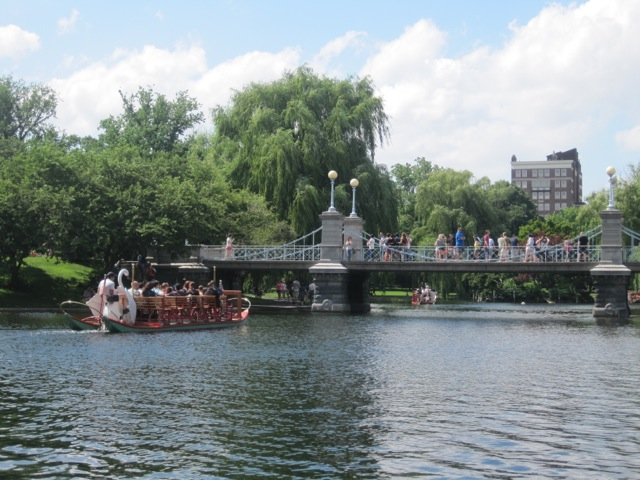 Swan Boats in the Public Garden, Boston