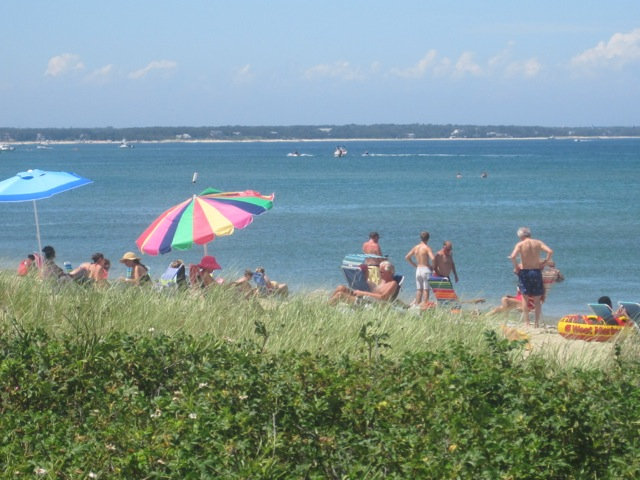 Beach view from Beach Road between Oaks Bluff and Edgartown