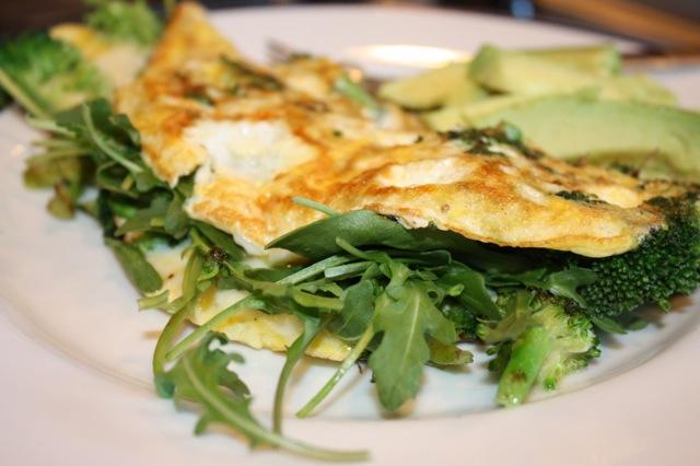 Broccoli Mozzarella Arugula Omelette