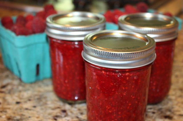 Raspberry Chia Jam with a Bit o Honey