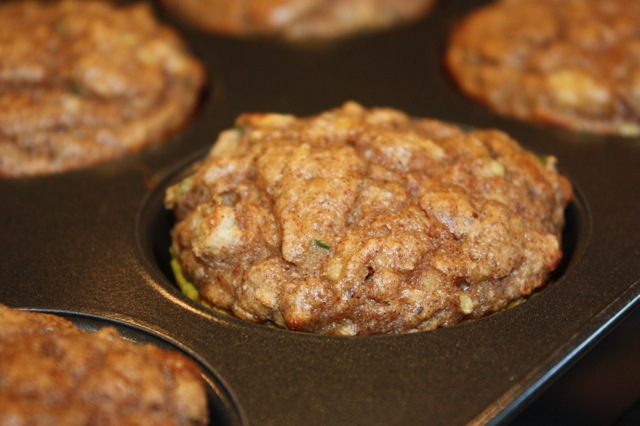 Zucchini Banana Nut Muffins