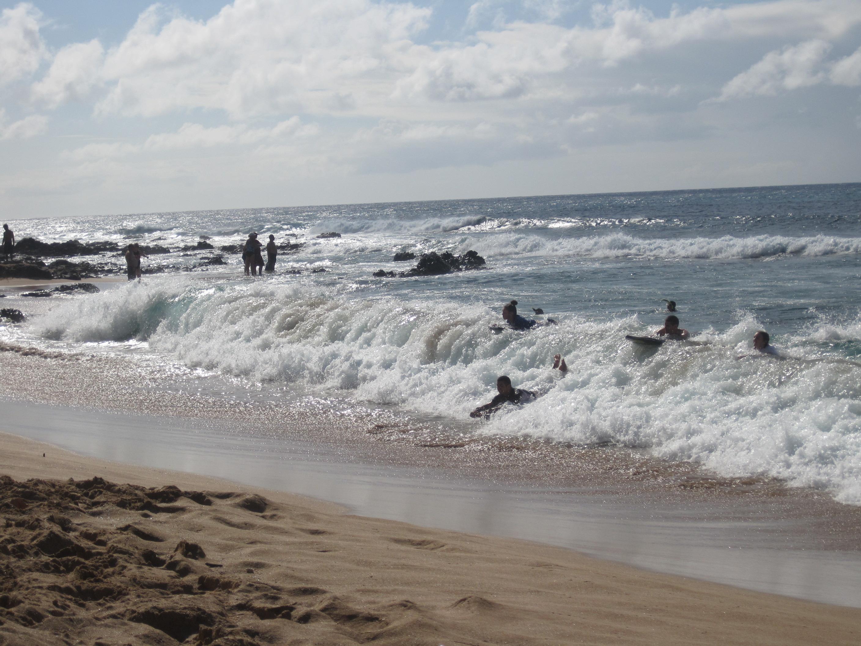 Boogie Boarding Napili Bay